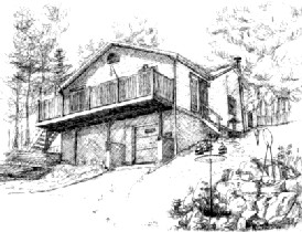Drawing of cottage near Cloyne